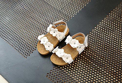 Colorful Kleinkind Baby Mädchen Sandalen Floral Schuhe Kinder Prinzessin Sandalen Kinder Strand Schuhe Sommer Schuhe/Weiß/Rosa/EU20-29,für 0.5-6 Jahre Baby Mädchen Weiß