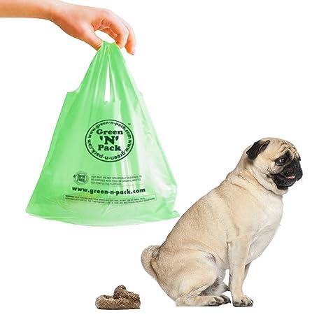 Green N Pack Dog Waste Litter Bags (Easy-Tie Handles)