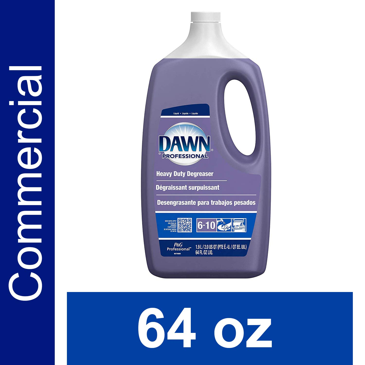 Amazon.com: Heavy Duty Degreaser by Dawn Professional, Bulk Liquid Degreaser Refill for Commercial Restaurant Kitchens and Bathrooms, 64 oz.