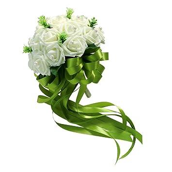 Sharplace Beige Vintage Schaumrosen Blumenstrauss Hochzeit