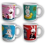 Coffret 4 mugs LAPINS CRETINS Capacité : 23.7cl