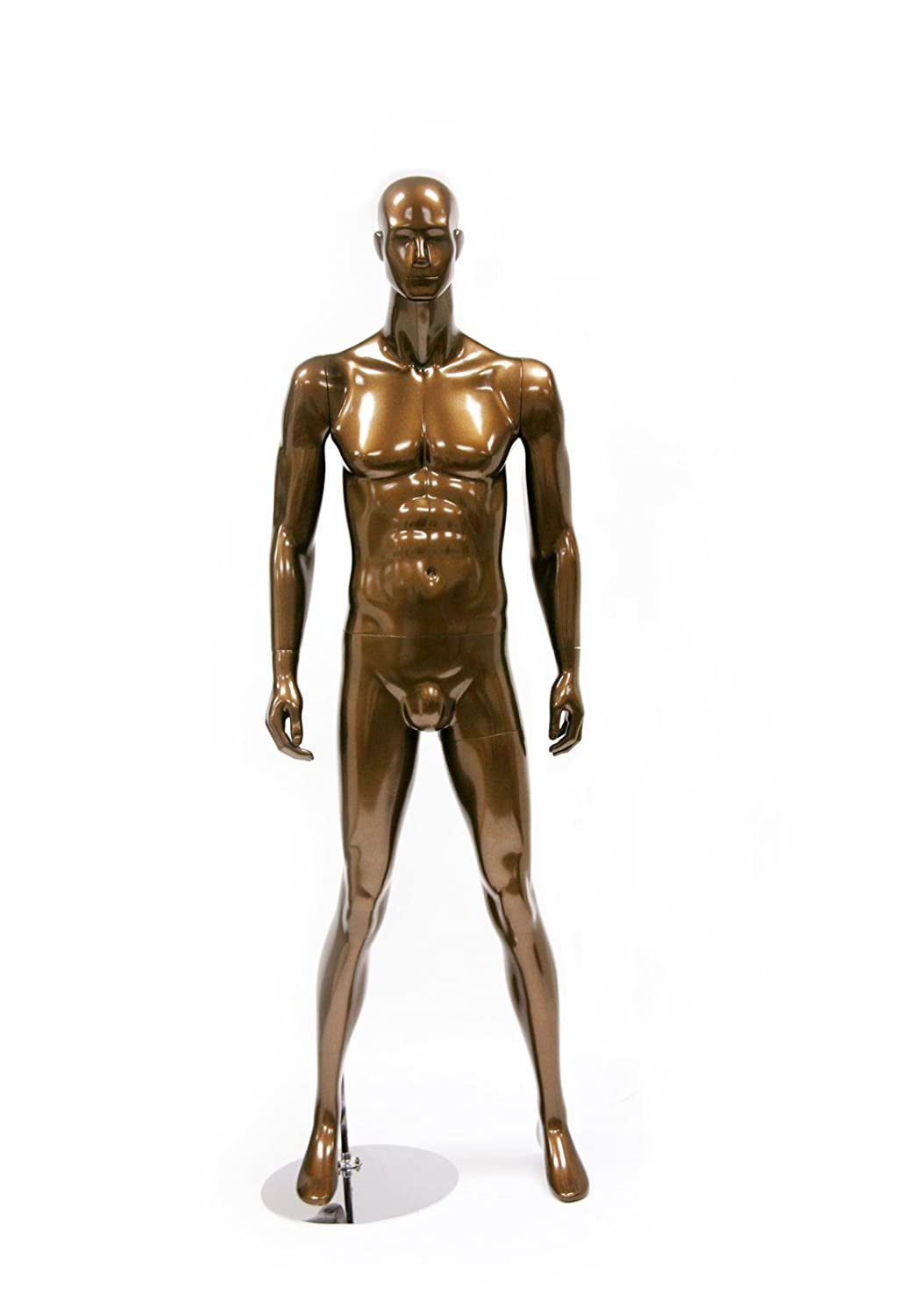 Glossy Pewter Newtech Display MAM-S2-214//SMPE Faceless Male Mannequin