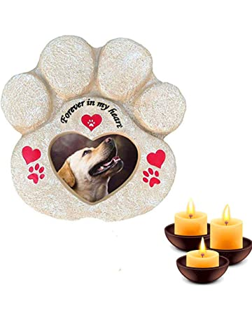 Personalizado Grabado Mascota Memorial Pizarra Piedra Corazón Tumba marcador Colgante Placa