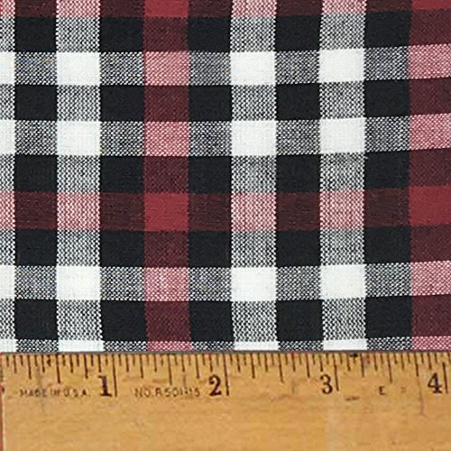 Homespun Cotton Fabric - Mountain Lodge 3 Cotton Homespun Plaid Fabric by JCS - Sold by the Yard