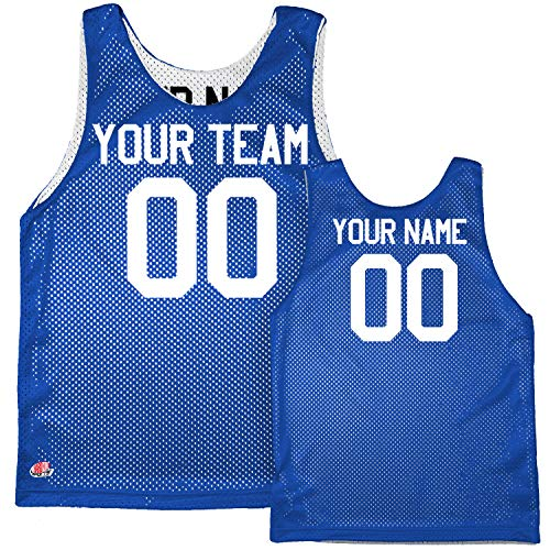 Economy Reversible Custom Basketball Jersey Adult Large in Royal Blue & White
