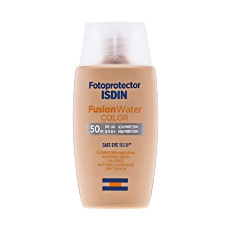 Amazon.com: ISDIN Fotoprotector Fusion Water Colour SPF50 50ml – Daily Facial Care – Sunscreen – Sensitive skins – Antioxidants And Anti-ageing Properties: ...