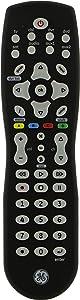 GE Universal Remote Control for Samsung, Vizio, Lg, Sony, Sharp, Roku, Apple TV, RCA, Panasonic, Smart TVs, Streaming Players, Blu-Ray, DVD, Simple Setup, 8-Device, Black, 33715