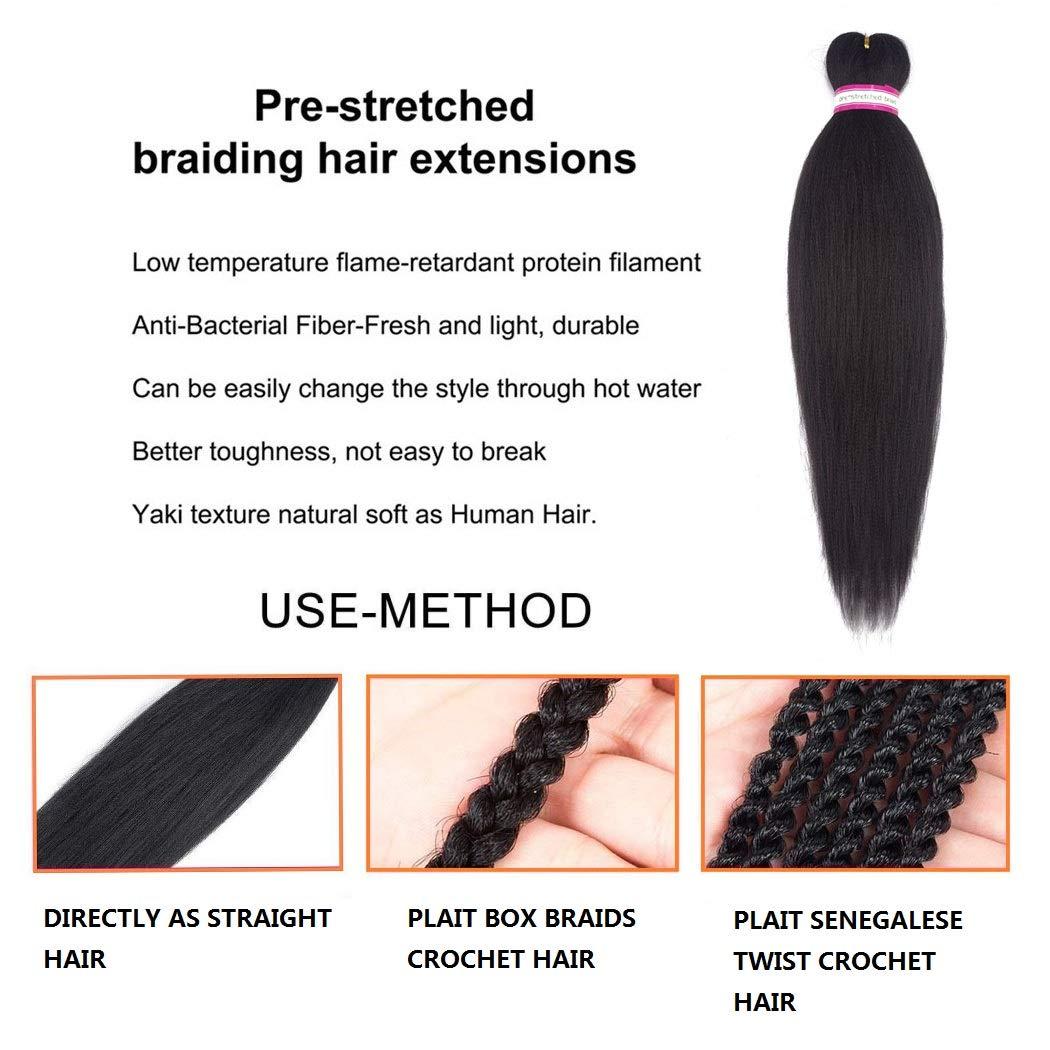 Amazon Pre Stretched Professional Braiding Hair Perm Yaki Ez