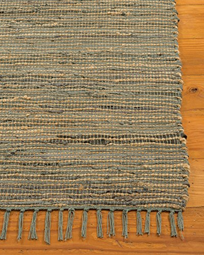 NaturalAreaRugs Marion Collection Leather Jute Area Rug, Handmade, 50% Leather, 40% Jute and 10% Cotton, Anti-Static, Durable, Stain Resistant, Eco-Friendly, (8 Feet x 10 Feet) Multi Color