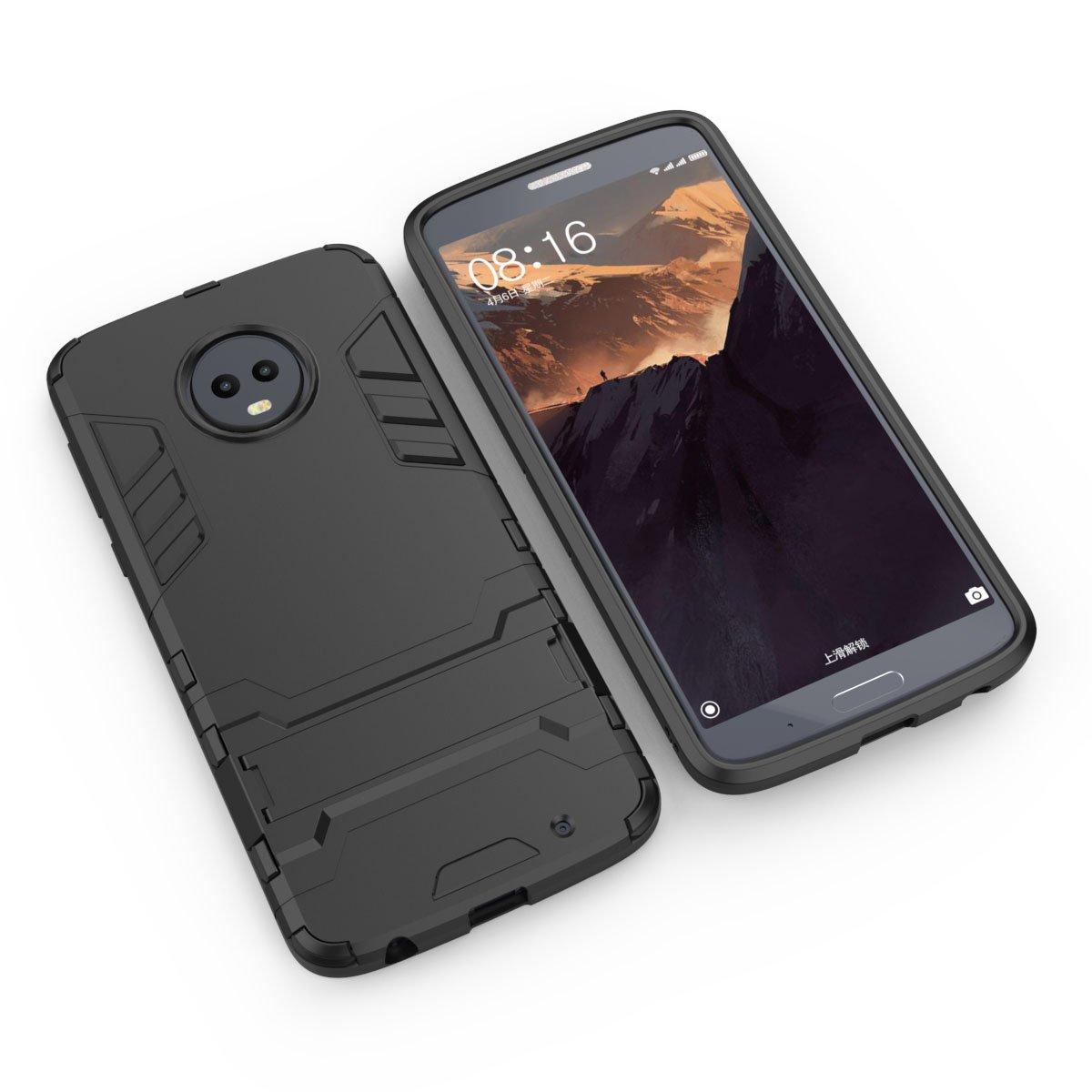 Amazon.com: Moto G6 Plus funda, Moto G6 Plus carcasa híbrida ...