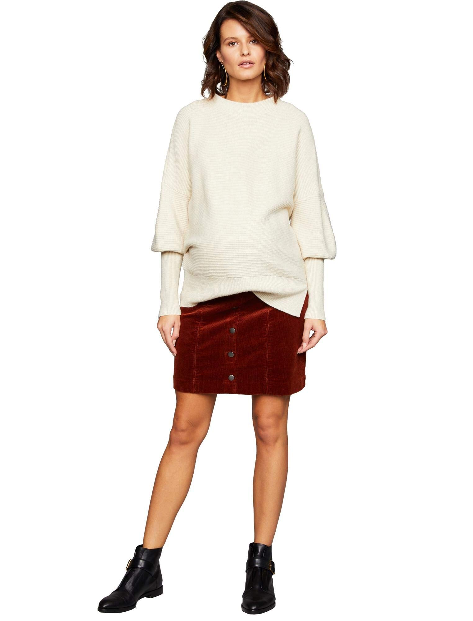 A Pea in the Pod Side Panel Button Front Maternity Skirt by A Pea in the Pod