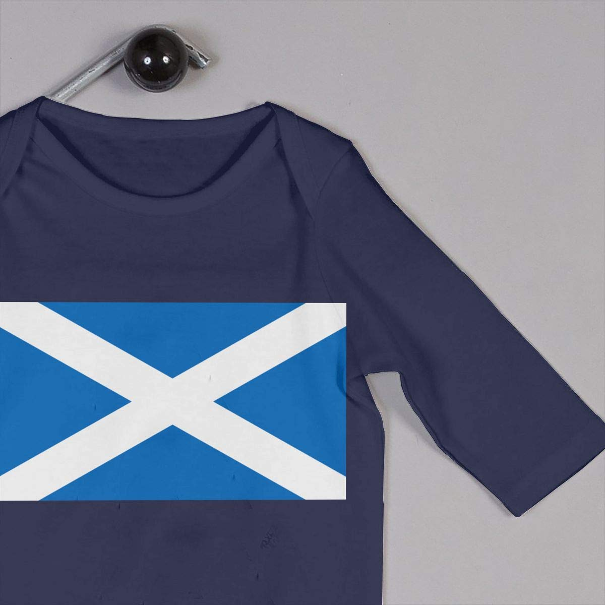 Mri-le1 Baby Boy Girl Bodysuits Scotland Flag Infant Long Sleeve Romper Jumpsuit