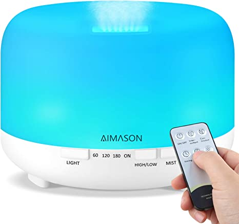 500ml Ultrasonic Aromatherapy Diffuser with Remote Control ...
