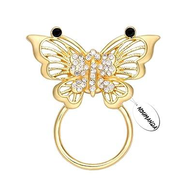 noumanda papillon doré Broche magnétique Lunettes Lunettes Lunettes Lunettes de soleil Support pour femmes PvZpMzgh