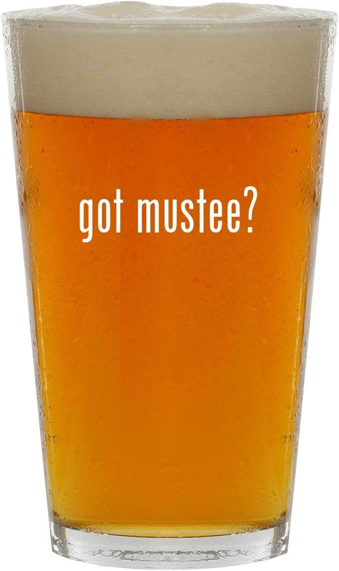 got mustee? - 16oz Clear Glass Beer Pint Glass