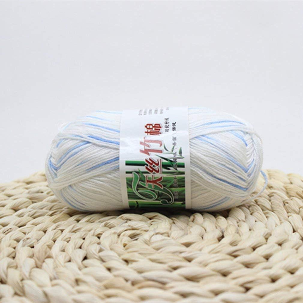 KinshopS Ovillo de Hilo de algodón de bambú para Tejer a Mano para recién Nacido en Ganchillo.: Amazon.es: Hogar