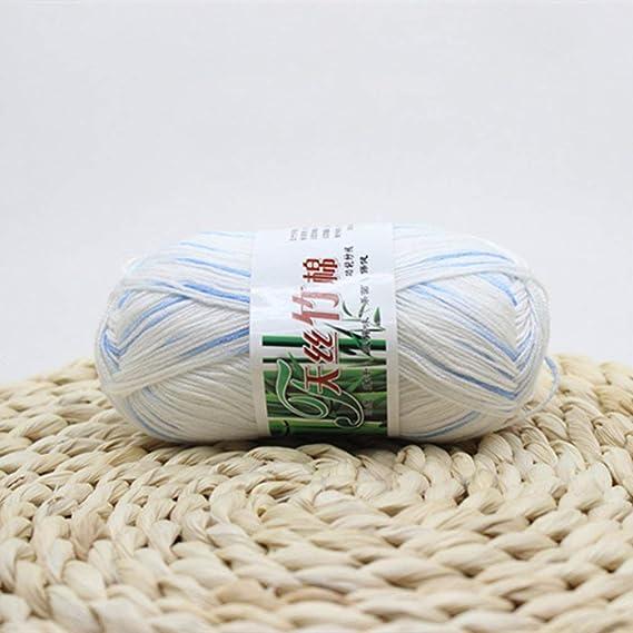 KinshopS Ovillo de Hilo de algodón de bambú para Tejer a Mano para ...