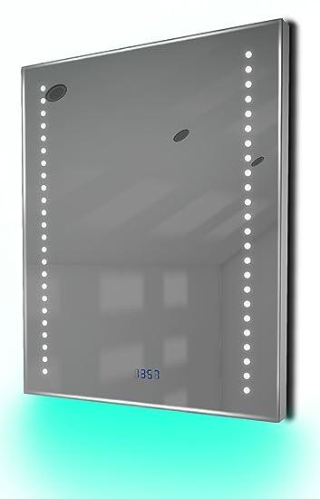 Diamond X Collection Badspiegel Mit Uhr Rgb Beleuchtung Heizung