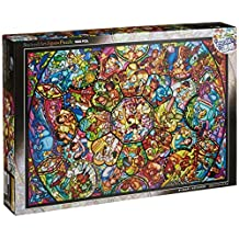 Tenyo Disney All Stars Stained Glass Translucent 1000 Piece Jigsaw Puzzle