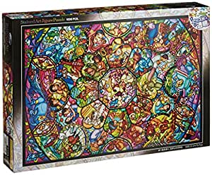 Disney Stained Art [1000P] All Stars Stained Glass (DS-1000-764) (japan import)