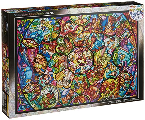 Disney Stained Art Jigsaw Puzzle[1000P] All Stars Stained - Jigsaw Puzzles 1000 Piece Disney