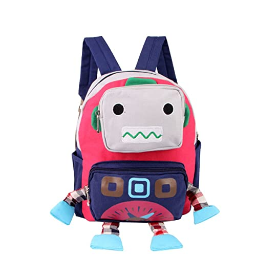cd60a1577cc4 Amazon.com: Adorable Robot Cartoon Schoolbag Nursery Small Backpack ...