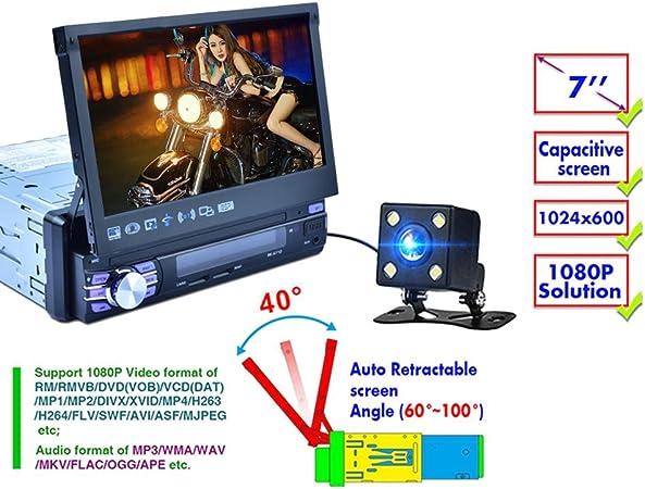 REAKOSOUND Reproductor de MP5 para Coche telescópico automático ...