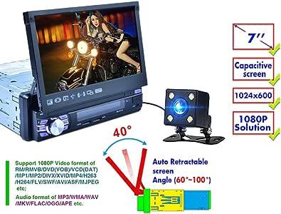 REAKOSOUND Reproductor de MP5 para Coche telescópico automático, de 7 Pulgadas, Sistema Android 6.0, navegador GPS WiFi Player, Descarga de Bluetooth Pantalla capacitiva 7 Funciones de luz de Color: Amazon.es: Electrónica