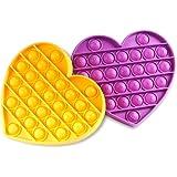 Aothing Push Pop Pop Fidget Toy, 2 Pack Silicone Fidget Popper Stress Reliever Squeeze Bubble Sensory Toys, Autism Special Ne
