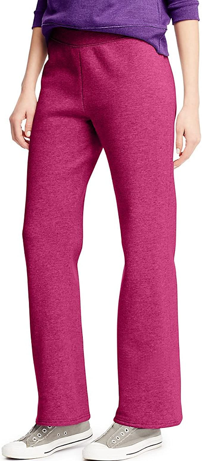 Hanes Sport Women/'s Performance Pants Cool DRI Comfort Open bottom Comfort Flat