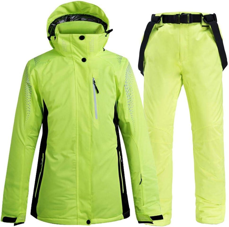 ZHXHX Tuta Sci Uomo E Donna Tuta Sci Doppia Snowboard Pantaloni Tuta Impermeabile Calda Spessa 4-S