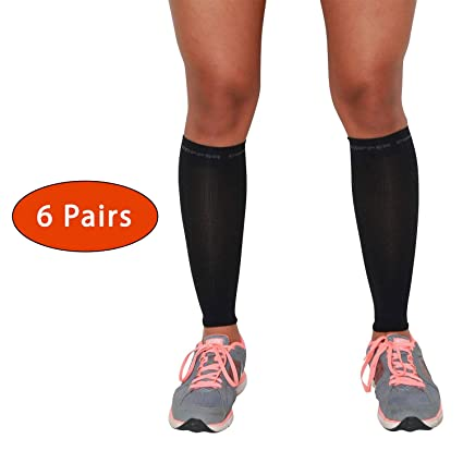 411c5fd897ea5 Compression Leg Sleeves with Copper - PureCompression Running Compression  Copper Sleeves for Runners (S,