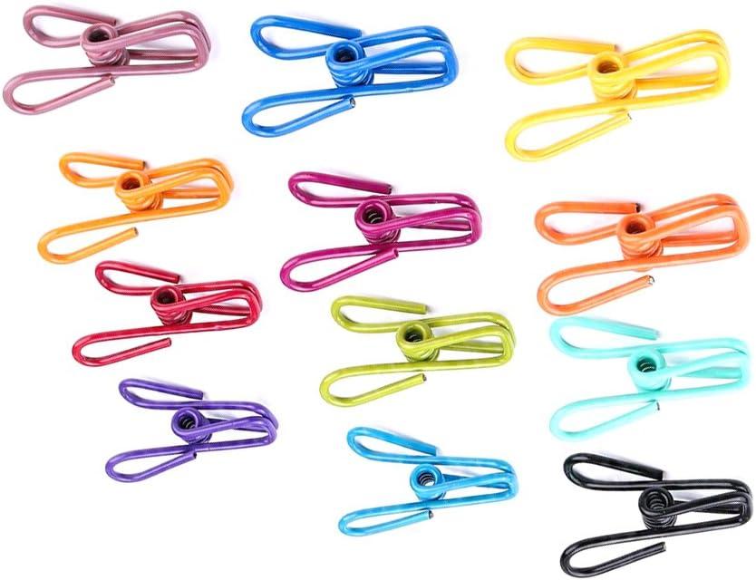 Color al azar pinzas de tendedero OUNONA 20 pinzas multiusos de alambre de acero para la ropa