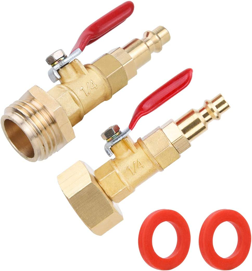 1//4 Inch Male Quick Connecting Plug and 3//4 inch Male GHT Thread Cpwuflyd RV Winterize Blowout Adapter 1//4 Inch Male Quick Plug and 3//4 Inch Female GHT Blowout Plug for RV Winterizing