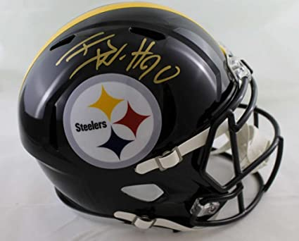 21e90bc0 Amazon.com: TJ Watt Autographed Pittsburgh Steelers Speed Replica ...