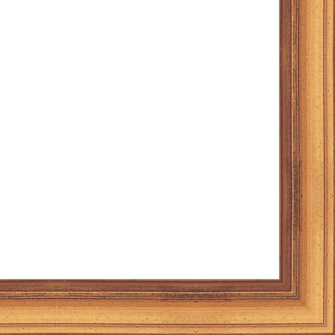 7//16 rabbet depth Wood Picture Frame Moulding 18ft bundle Traditional Antique Gold Finish 1 width