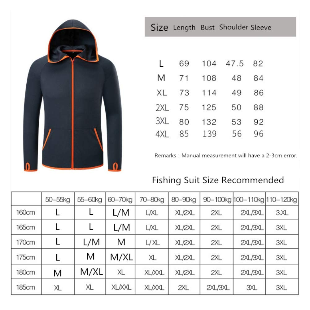 ChYoung Mens Plus Size Quick Dry Hooded Fishing Jacket Waterproof Anti-Fouling Outdoor Sports Fishing Shirts