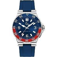 Gc Mens Quartz Watch, Chronograph Display and Silicone Strap Y51001G7MF