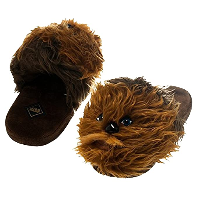 Star Wars Chewbacca Men's Slide-On Plush Slippers, Large