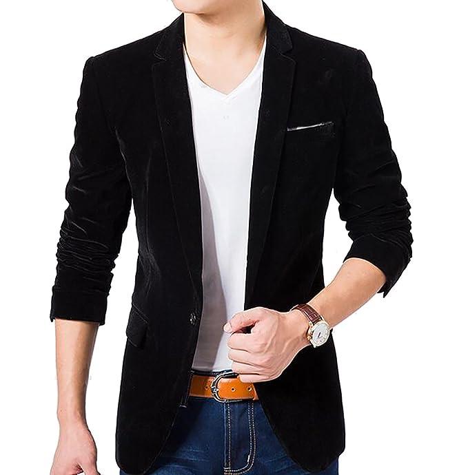 Amazon.com: keaac Chaquetas de Traje de vestir bolsillo ...