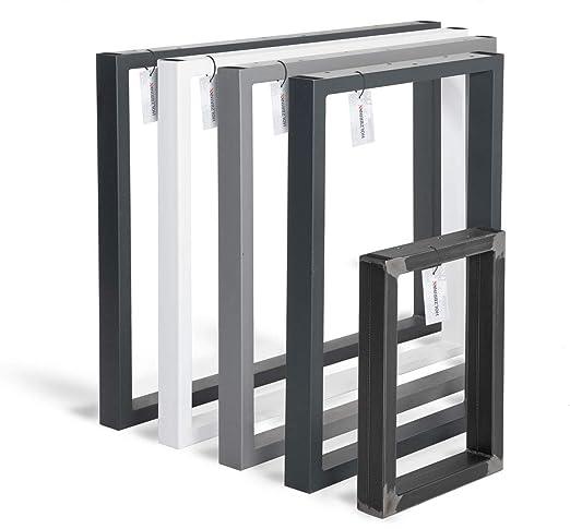 HOLZBRINK Patas de Mesa perfiles de acero 60x30 mm, forma de marco ...