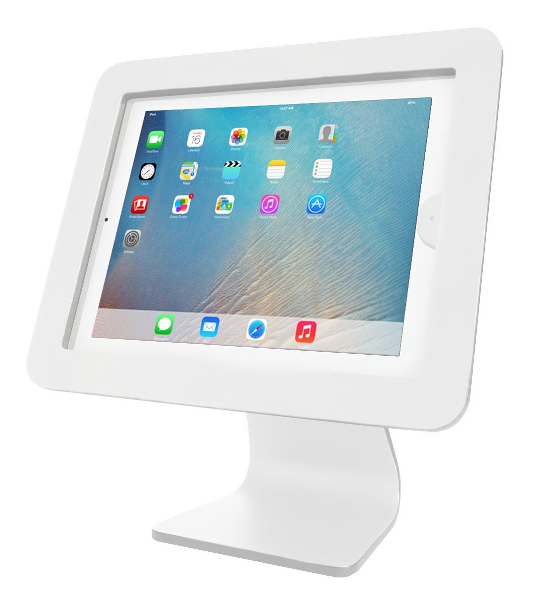 Maclocks AIO-W All-in-One 360 Rotating iPad Security Enclosure Kiosk Stand (White)