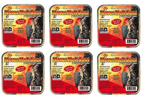 Pine Tree Farms 6 Cakes Peanut Never Melt Suet Cake 12 oz. each