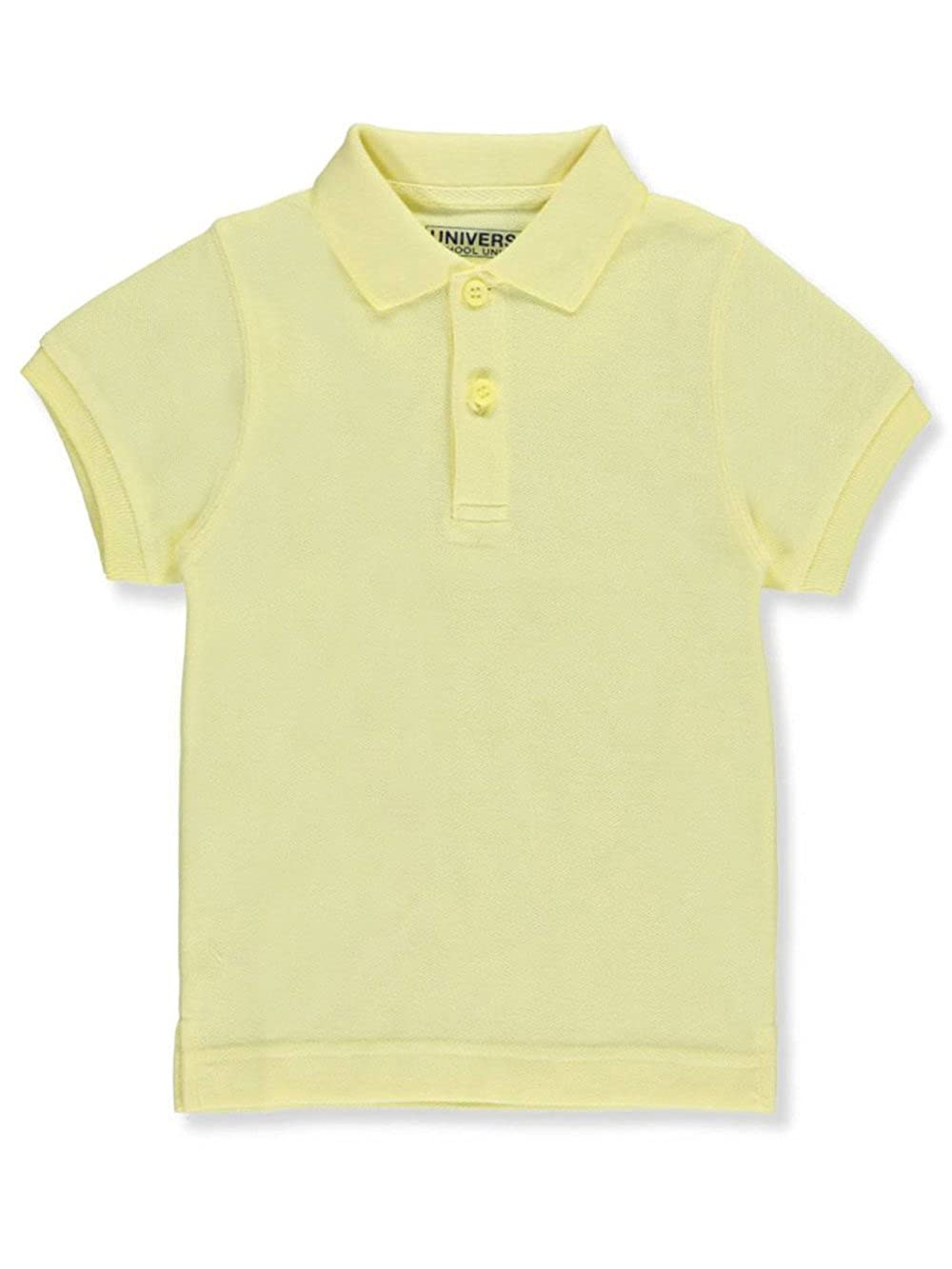 Children's Short Sleeve Pique Polo Shirt - Yellow, 16 Universal