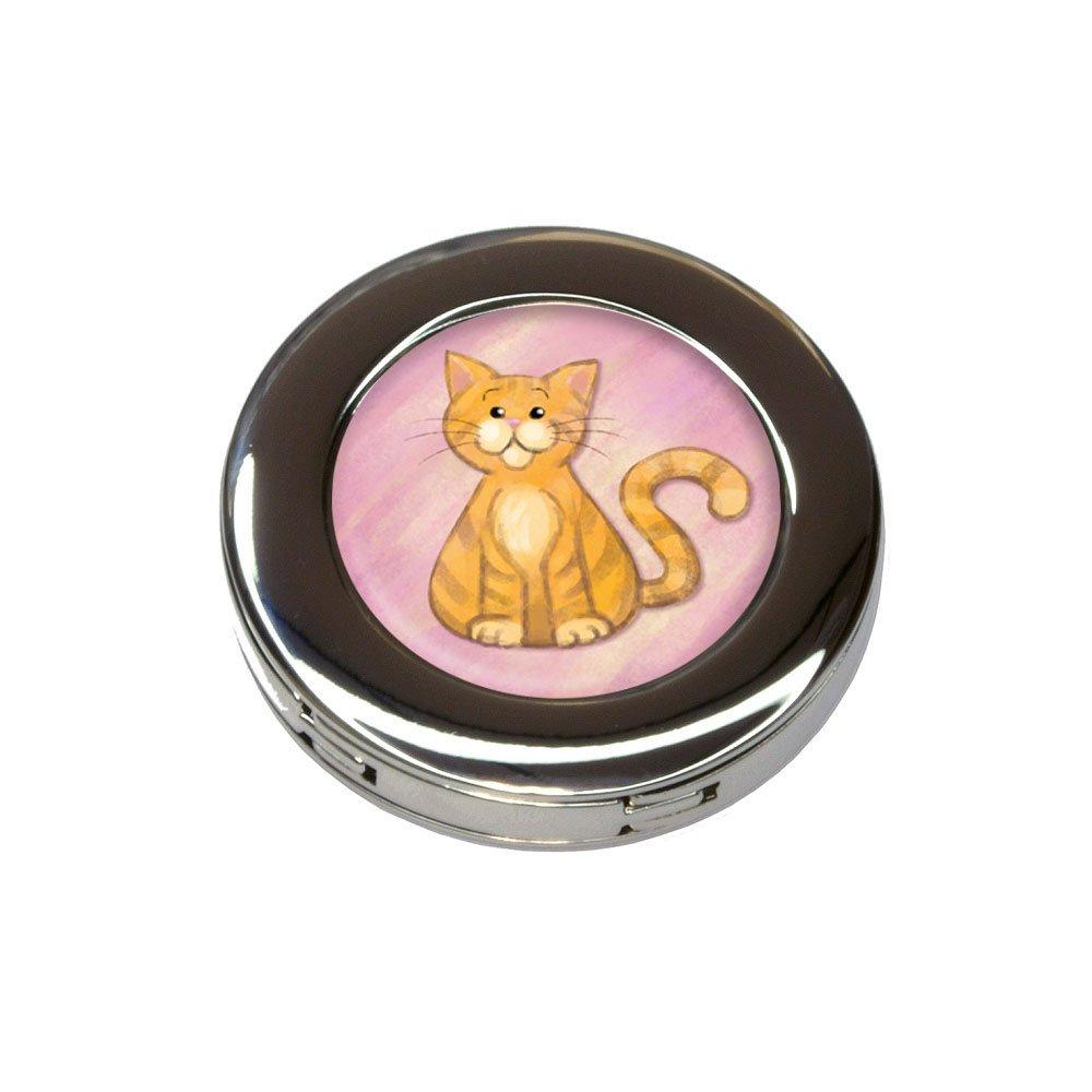 Orange Cat in Pastel Foldable Retractable Purse Bag Handbag Hook Hanger Holder