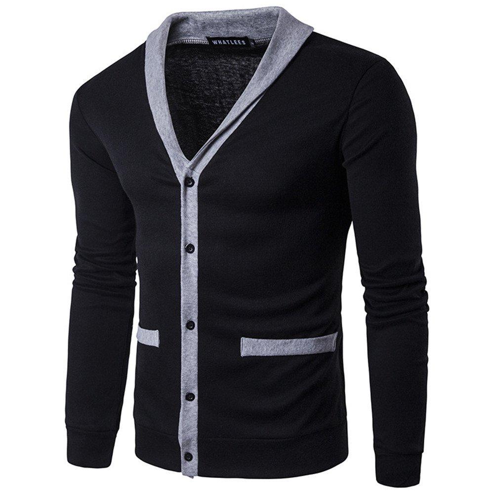 Gndfk männer - Pullover, Pullover, Europa - Chef der männlichen langärmliges Hemd Pullover,schwarz,s