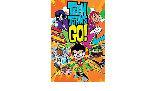 Teen Titans Go. – Titans Go. – Oficial Póster: Amazon.es: Hogar