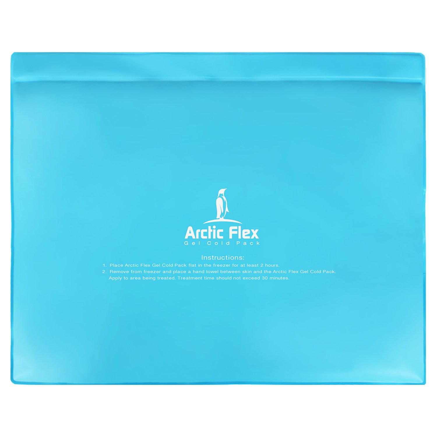 Arctic Flex Gel Ice Pack - Cold Therapy Ice Bag - Reusable Medical Freezer Pad - Hot/Heated Compress Wrap for Knee, Shoulder, Back and Ankle - Flexible, Soft & Instant (11'' x 14'') by Arctic Flex (Image #1)