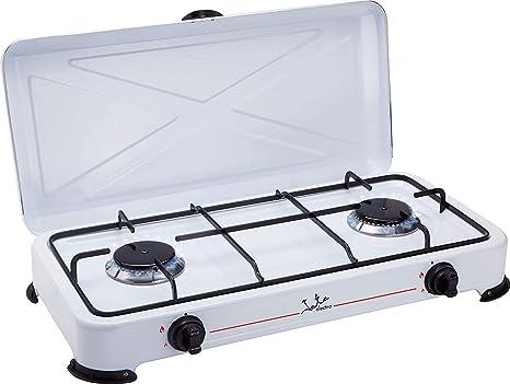 ElectrodoemsticosN1 Pack Hornillo a Gas Jata CC705 Blanco, 2 ...