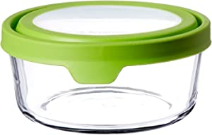 Anchor Hocking 91689 7 Cup Round Trueseal Glass Storage Container